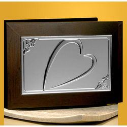 Silver Heart Wood Photo Album