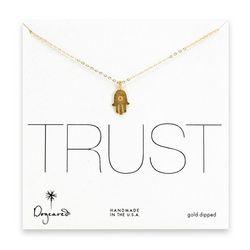 Hamsa Trust Modern Word Necklace