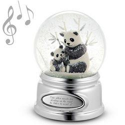 Beaded Panda Engravable Snow Globe