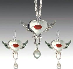 Wings of Desire Necklace and Earring Set