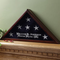 Personalized American Hero Flag Display Case