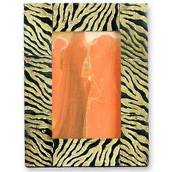 Tiger Bull Horn Photo Frame