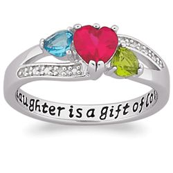 Sterling Silver Daughter is a Gift Birthstone Ring