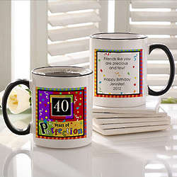 Personalized Aged to Perfection Birthday Coffee Mug