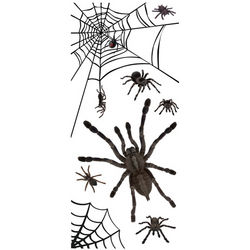 Spiders Glow in the Dark Wall Décor