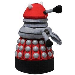 Doctor Who Red Dalek Sound-Effect Plush Doll