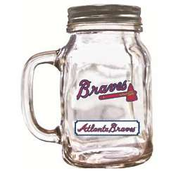 Atlanta Braves Mason Jar