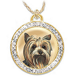 Friend Fur-Ever Pendant with Swarovski Crystals