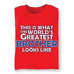 Personalized World's Greatest Red T-Shirt