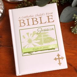 Personalized Divine Daisy Catholic Child's First Bible