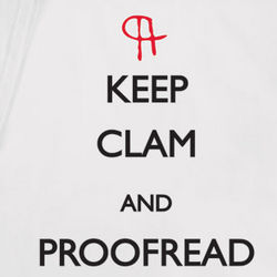 Keep Clam and Proofread T-Shirt
