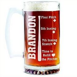 Personalized Sportsaholic Oversized Beer Mug
