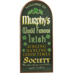Personalized Irish Society Wall Sign