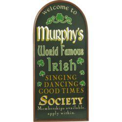 Personalized Irish Society Wall Sign