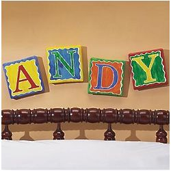 Personalized Letters Wall Art on Canvas