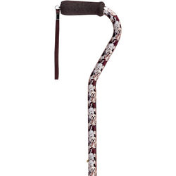 Dogs Offset Handle Walking Cane with Adjustable Aluminum Shaft