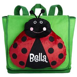 Personalized Plush Ladybug Bag