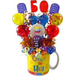 Over the Hill Birthday Lollipop Bouquet