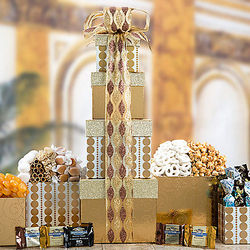 Golden Surprise Gift Tower