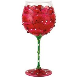 Red Rose Super Bling Wine Glass