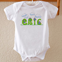 B is for Bug Personalized Baby Bodysuit