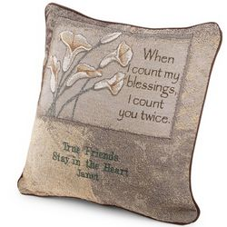 Counting Blessings Floral Pillow