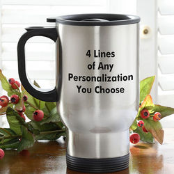 You Name It Personalized Travel Mug