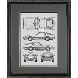 Nissan 11x14 Framed Blueprint