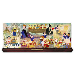 Snow White and the 7 Dwarfs Panorama Plate Collection