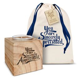 You Are Sincerely Appreciated Personalized Candle Gift Set