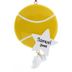 Personalized Tennis Ball Christmas Ornament