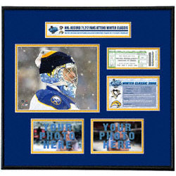 Ryan Miller Buffalo Sabres - NHL Winter Classic - Ticket Frame
