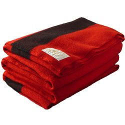 Hudson's Bay Scarlet Wool 8 Point Blanket