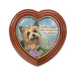 Yorkies Leave Paw Prints On My Heart Wall Decor