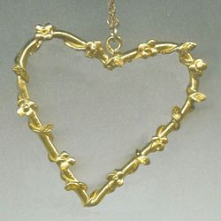 Large Floral Heart Necklace