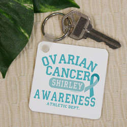Ovarian Cancer Awareness Keychain