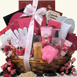 Rose Spa Haven Birthday Bath & Body Gift Basket
