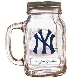 New York Yankees Mason Jar