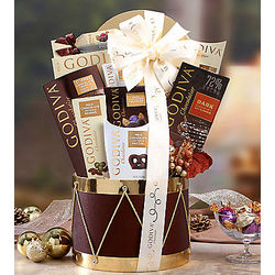 Godiva Chocolate Drum Gift Basket