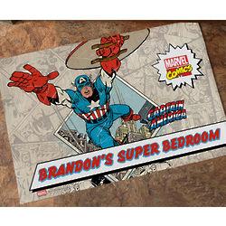 Personalized Marvel Comic Book Hero Doormat