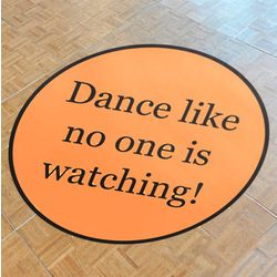 Custom Dance Floor Decal