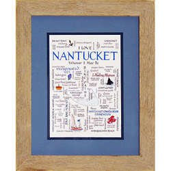 Framed Nantucket Calligraphy Print
