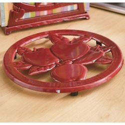 Red Enamel Apple Trivet