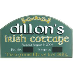 Personalized Irish Cottage Sign