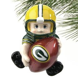 Green Bay Packers Lil' Fan Football Player Acrylic Ornament