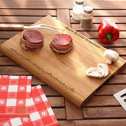 Grilled to Perfection Personalized Bamboo Cutting Board