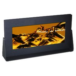 Black Anodized Metal Rectangle Exotic Sand Art