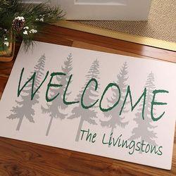 Evergreen Welcome Personalized Doormat