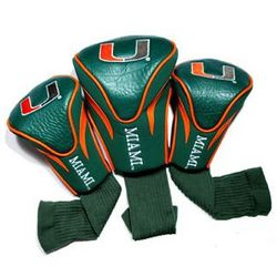 Miami Hurricanes Contour Fit Golf Headcovers