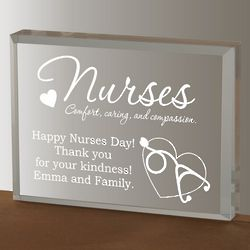 Personalized Nurse's Acrylic Plaque